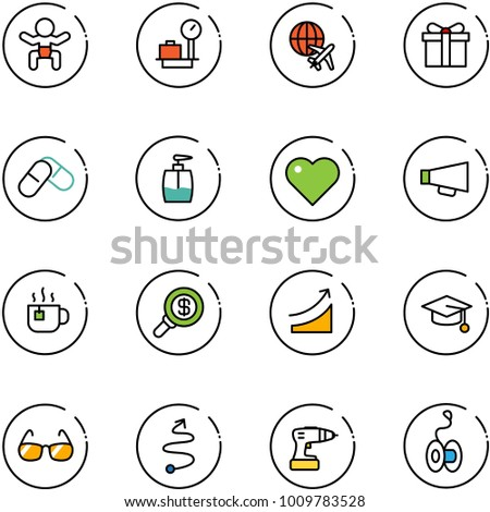 line vector icon set   baby