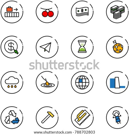 line vector icon set   baggage
