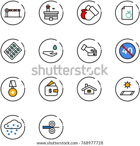 line vector icon set   barrier