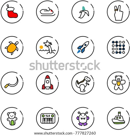 line vector icon set