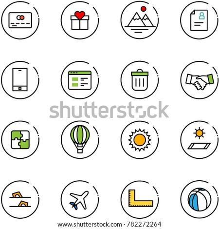 line vector icon set   credit
