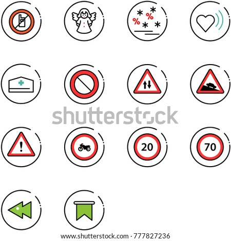line vector icon set   no