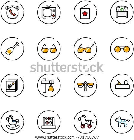 line vector icon set   phone