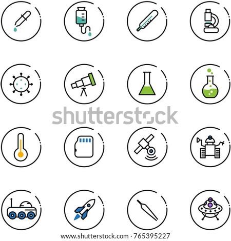 line vector icon set   pipette