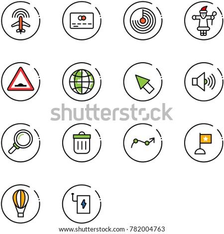 line vector icon set   plane