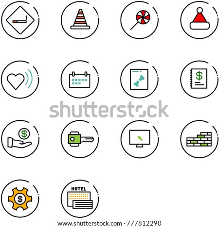 line vector icon set   smoking