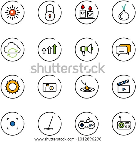 line vector icon set   sun