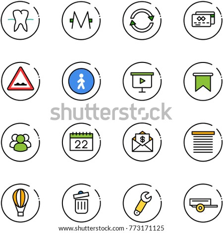 line vector icon set   tooth