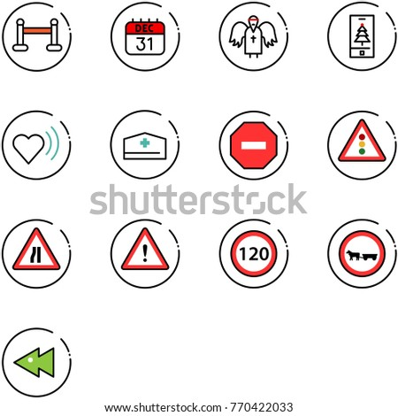 line vector icon set   vip zone