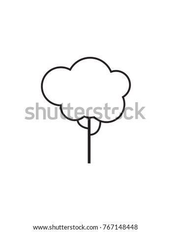 Line vector white tree