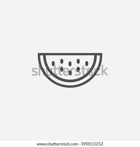 line watermelon Icon