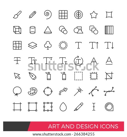 Linear Art and Design Line Icons