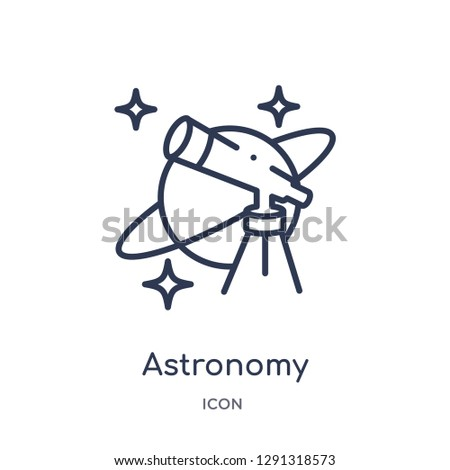 Linear astronomy icon from Astronomy outline collection. Thin line astronomy vector isolated on white background.