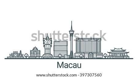 linear banner of macau city