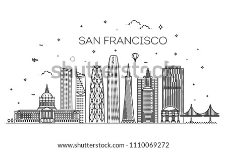 linear banner of san francisco