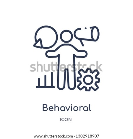 Linear behavioral competency icon from Human resources outline collection. Thin line behavioral competency icon isolated on white background. behavioral competency trendy illustration