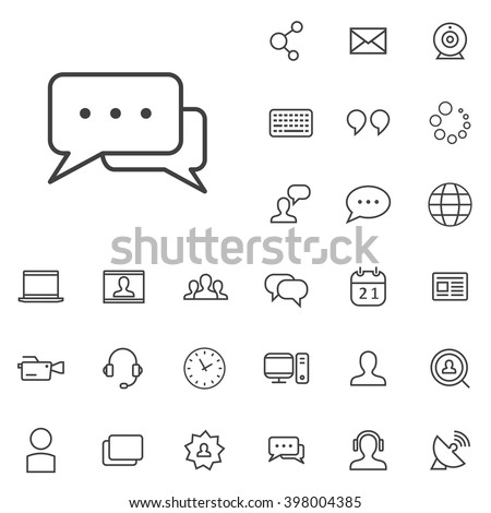 Linear blog icons set. Universal blog icon to use in web and mobile UI, blog basic UI elements set