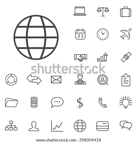 Linear Business icons set. Universal Business icon to use in web and mobile UI, Business basic UI elements set