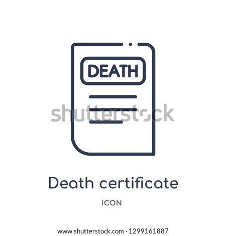 linear death certificate icon