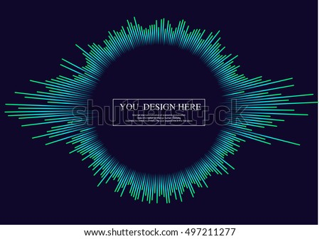 Linear drawing of rays of the sun. Light rays of burst. Rays radiating from a central object or source of light.Design elements for your projects. #497211277