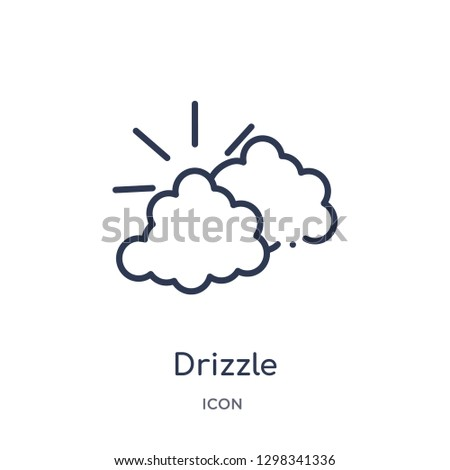 Linear drizzle icon from Meteorology outline collection. Thin line drizzle icon isolated on white background. drizzle trendy illustration