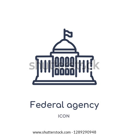 Linear federal agency icon from Army and war outline collection. Thin line federal agency vector isolated on white background. federal agency trendy illustration