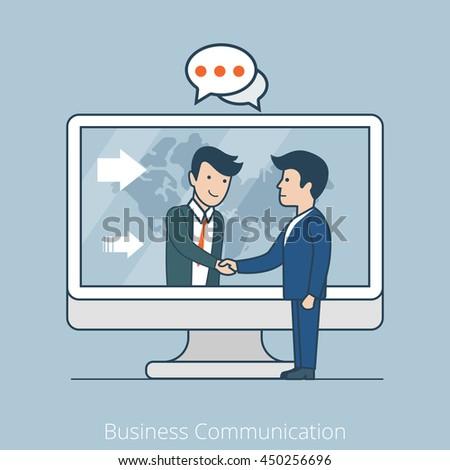 linear flat businessmen