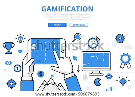 linear flat gamification