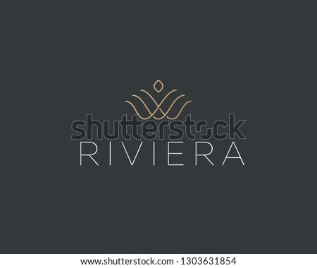 linear flower crown logotype