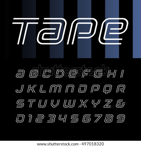 linear font vector alphabet