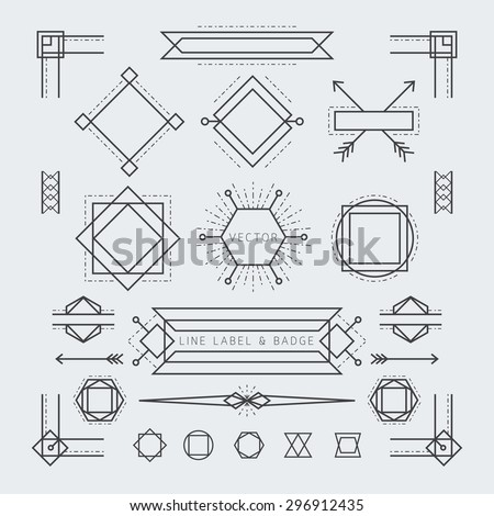 linear geometric labels and