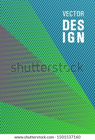 Linear geometry poster background vector template. Digital stylish outlet backdrop. Scientific journal concept. 2d abstract shapes flat tech composition. Plastic style cover template.