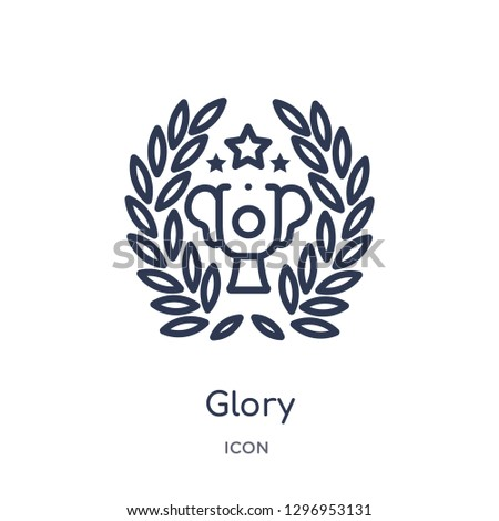 Linear glory icon from Entertainment outline collection. Thin line glory icon isolated on white background. glory trendy illustration