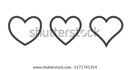 linear heart icon, vector linear icons thin grey line