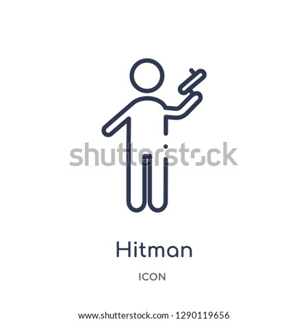 linear hitman icon from cinema
