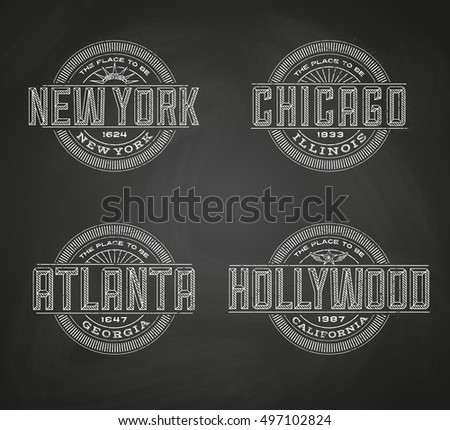 linear logos for new york