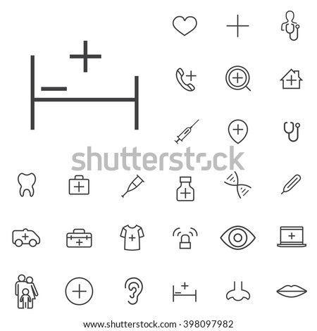 Linear medical icons set. Universal medical icon to use in web and mobile UI, medical basic UI elements set