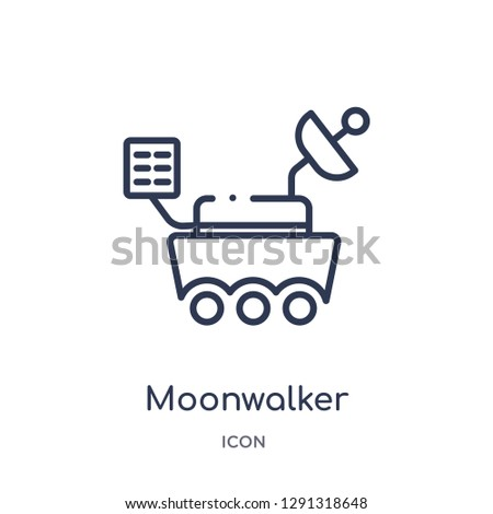 linear moonwalker icon from