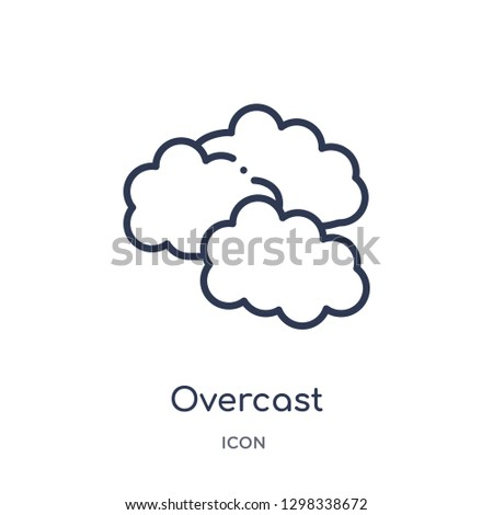 Linear overcast icon from Meteorology outline collection. Thin line overcast icon isolated on white background. overcast trendy illustration