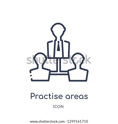 linear practise areas icon from