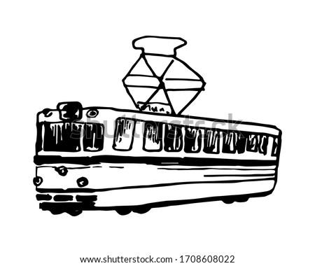 linear retro tram black and