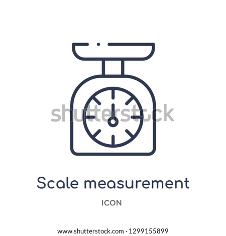 Linear scale measurement icon from Measurement outline collection. Thin line scale measurement icon isolated on white background. scale measurement trendy illustration