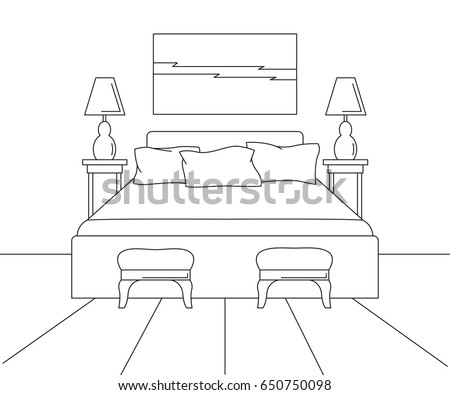 Free Simple Bedroom Illustration Download Free Vector Art Stock
