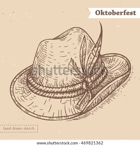 linear sketch of the hat with...