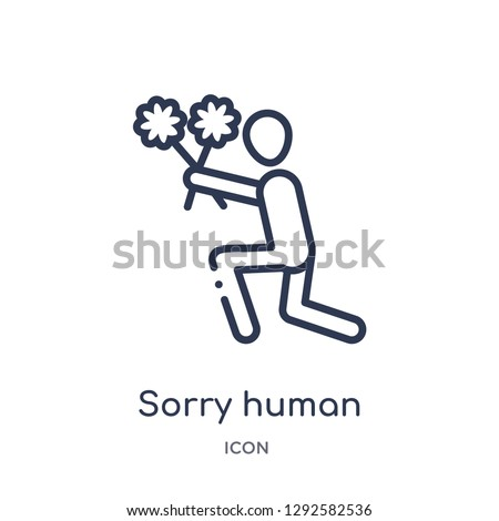 linear sorry human icon from
