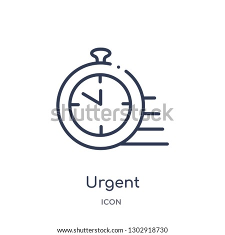Linear urgent icon from Human resources outline collection. Thin line urgent icon isolated on white background. urgent trendy illustration