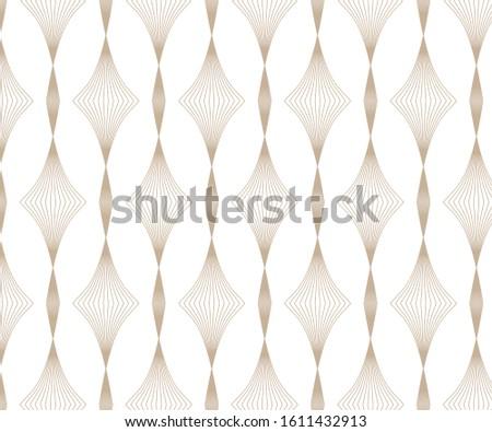 Linear vector pattern, linear diamond shape
