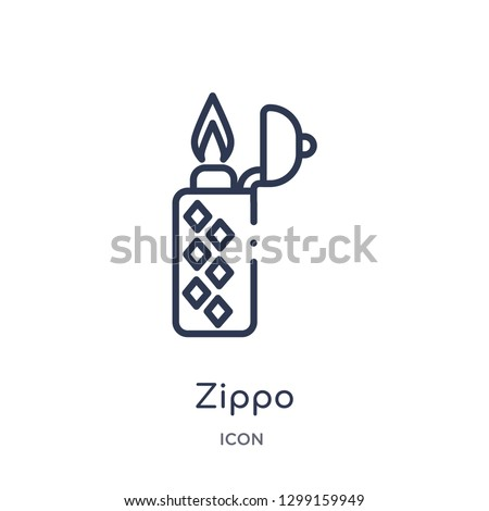 linear zippo icon from luxury