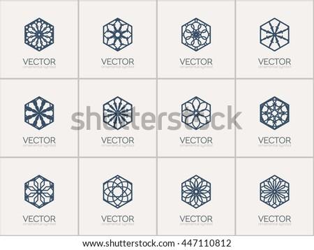 Line Geometric Symbol Design Download Free Vector Art Stock