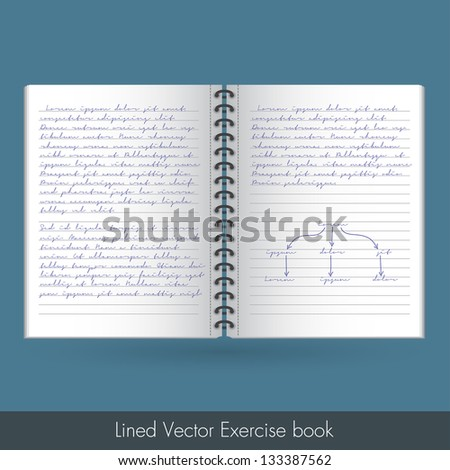 Lined Exercise Book | EPS 10 Vector